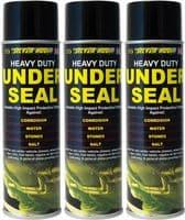 3 X UNDERSEAL SPRAY AEROSOL UNDERGUARD PAINT UNDER BODY PROTECTION SEAL 500ML